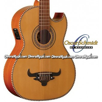 OSCAR SCHMIDT by Washburn Acoustic/Electric Bajo Quinto