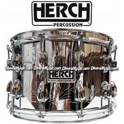 HERCH Snare 14x8 Chrome Finish w/Engraving 12-Lug
