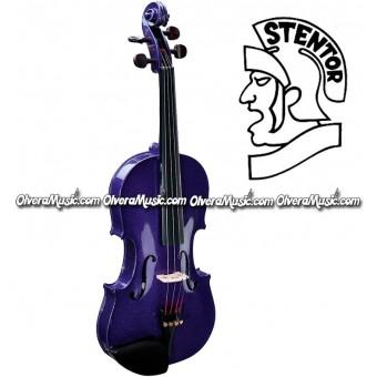 """STENTOR Violin Outfit """"Serie Harlequin"""" Modelo Estudiante - Morado Intenso"""