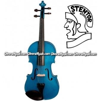 "STENTOR Violin Outfit ""Serie Harlequin"" Modelo Estudiante - Azul Atlanta"