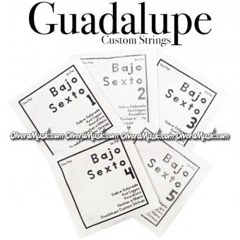 GUADALUPE Bajo Quinto Complete String Set - Red Copper