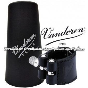VANDOREN Leather Bb Clarinet Ligature & Plastic Cap