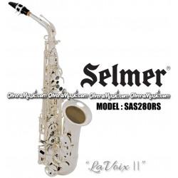 """SELMER """"LaVoix II"""" Intermediate Eb Alto Saxophone - Silver Plate Finish"""