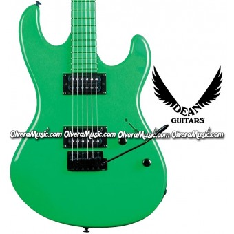 DEAN GUITARS Custom Zone Electric Guitar - Neon Green