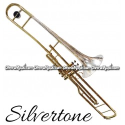 SILVERTONE Valve Trombone Engraved Key of C - Lacquer/Silver-Plate Finish