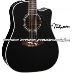 TAKAMINE Serie Legacy Guitarra Electro-Acustica de 12-Cuerdas - Negro Brillante