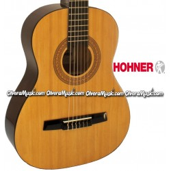 HOHNER Guitarra Classica Medida 3/4 para Estudiante - Natural
