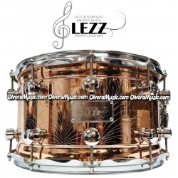 GLEZZ PERCUSSION Snare 14X8 Copper Color w/Engraving 10-Lug