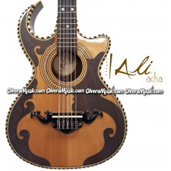 ALI ACHA Traditional Bajo Quinto Walnut Wood