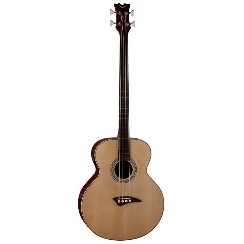 dean guitars fretless acoustic electric bass guitar natural olvera music. Black Bedroom Furniture Sets. Home Design Ideas